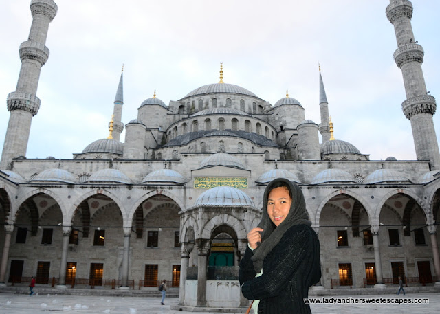 Lady in Blue Mosque