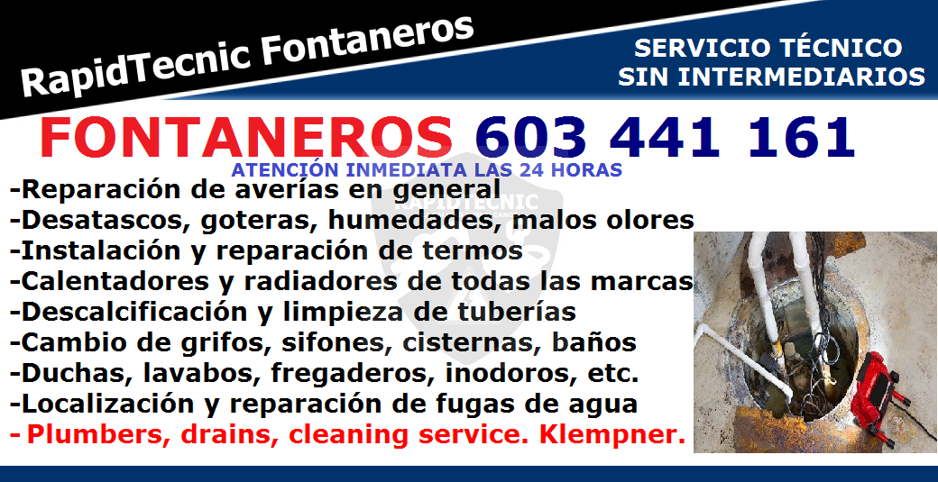 Rapidtecnic Alicante Fontaneros Urb Parque De Las Naciones