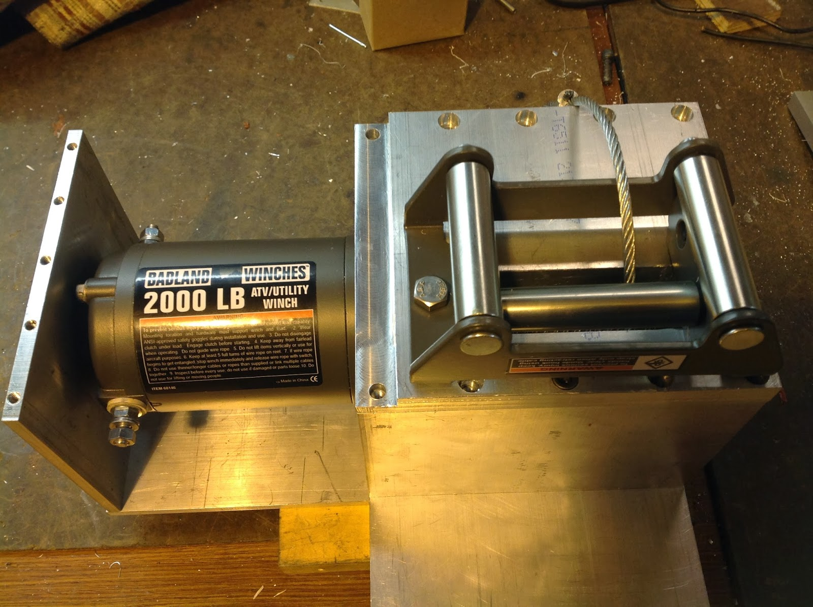 Robert's Projects: Installing a Harbor Freight Winch on my