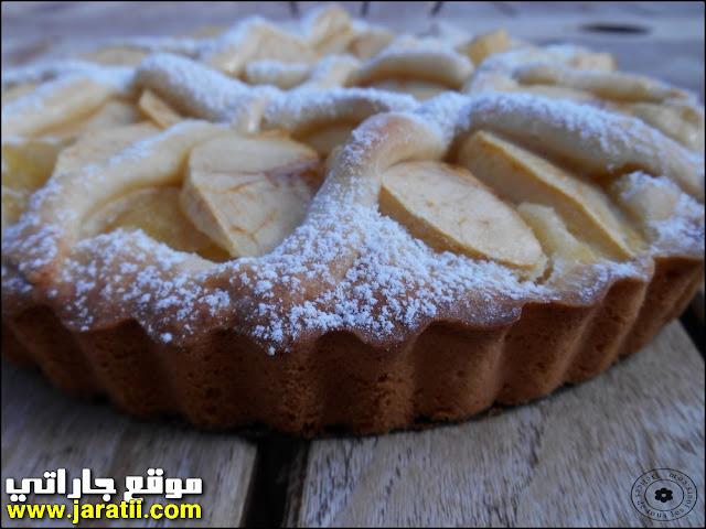 طورطات سهلة بالصور : طارط بالتفاح