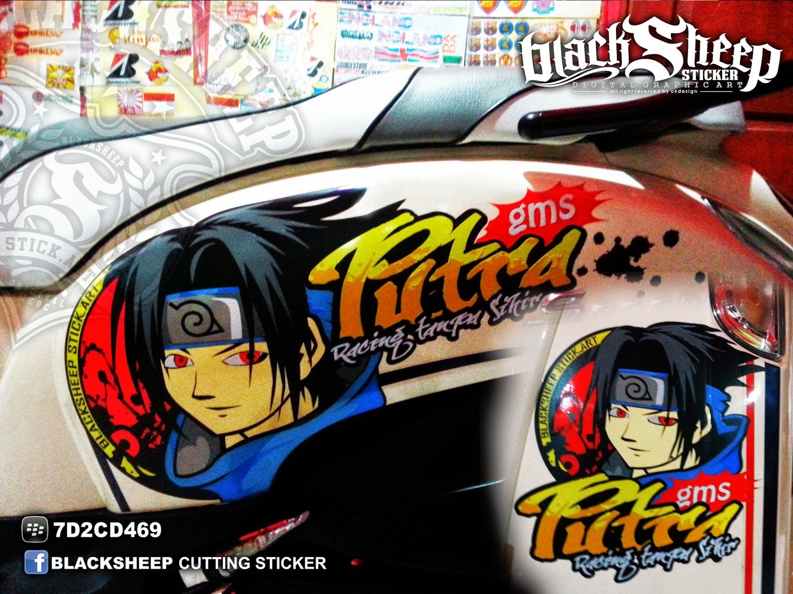 Sticker sasuke cutting sticker