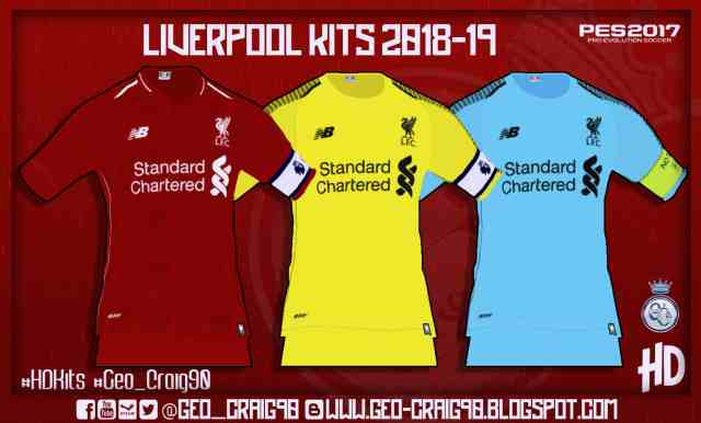 365e64573c9 PES 2017 Liverpool Kits-Pack 2018-19 Beta by Geo-Craig90