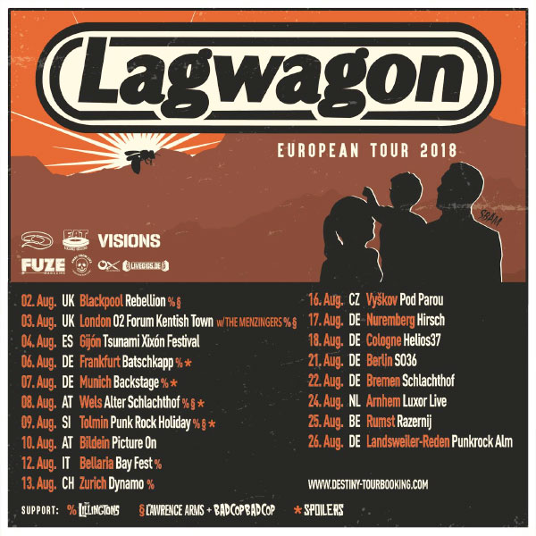 Lagwagon announce European Tour 2018