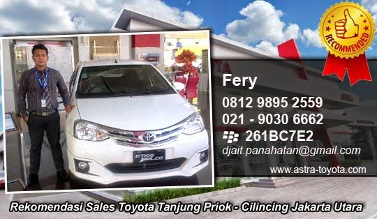 Rekomendasi Sales Toyota Tanjung Priok - Cilincing Jakarta Utara