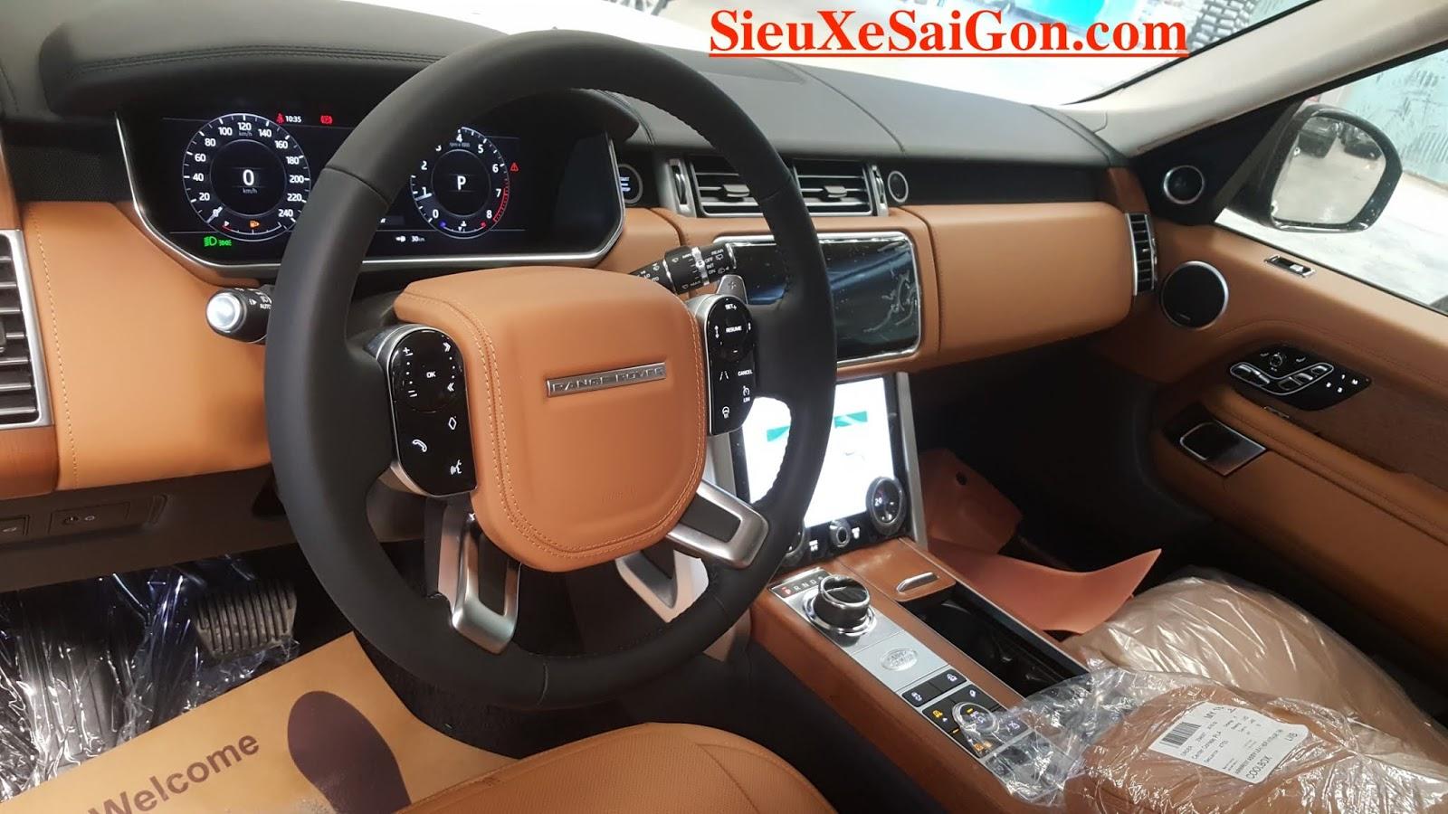 Nội thất màu nâu da bò, Mẫu Động Cơ 3.0 V6 Range Rover Phiên Bản Dài LWB Autobiography 2018 Model 2019 Giao Ngay Giá Bao Nhieu Tiền - màu silicon silver ánh kim bạc