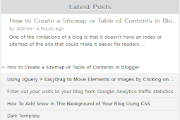 Recent Rotating Post Gadget with Excerpt For Blogger