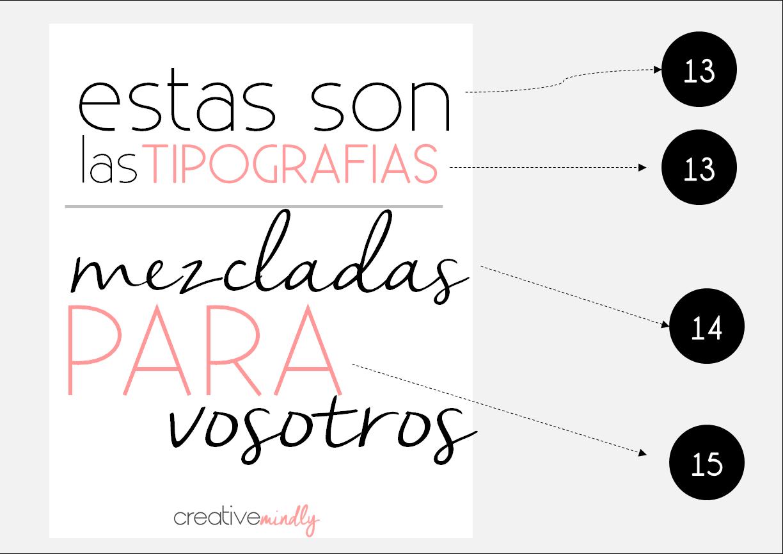 como combinar tipografías