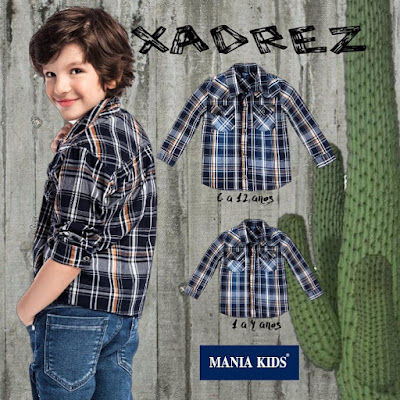 camisa xadrez para bebês e meninos