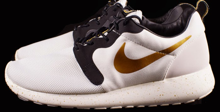 c6e8785b82a2 australia nike roshe run hyperfuse gold trophy 778c8 0ab06  new arrivals  sporting ivory tones and black along the inner lining and accents metallic  gold ...