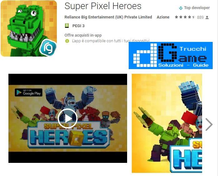 Trucchi Super Pixel Heroes Mod Apk Android v1.0.0