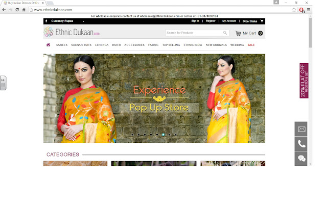 Sarees for every occasion on Ethnic Dukaan image