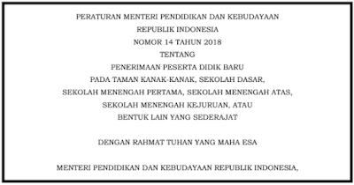 Permendikbud No 14 Tahun 2018