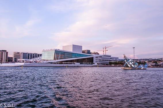 El edifificio de la opera de Oslo