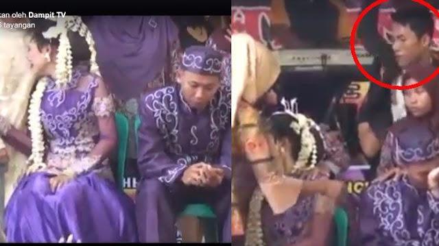 Pesta Nikahan Jadi Heboh Saat Pria Ini Lakukan Hal Tak Terduga pada Mempelai Wanita, Ini Videonya..