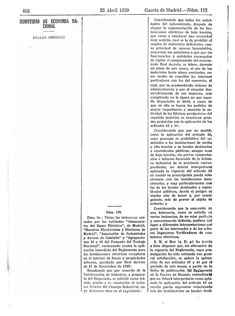 reglamento instalaciones electricas receptoras 1930 - 06