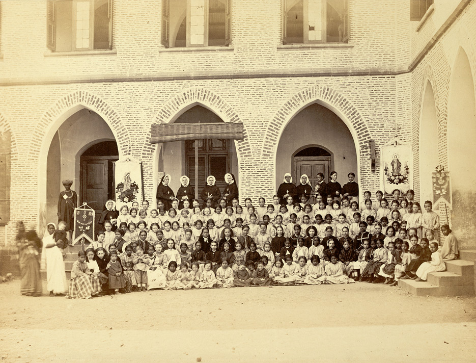 Vintage Photograph of Pupils and Teachers of the Convent