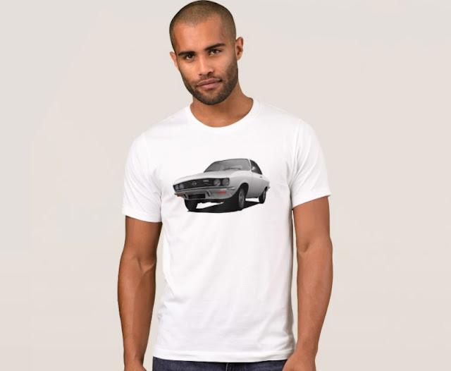 Opel Manta A white t-shirts