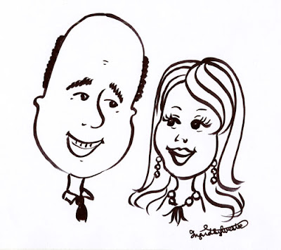 Caricaturist for weddings & events North East UK Ingrid Sylvestre