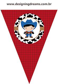 Banderines de Bebés Vaqueros para imprimir gratis.