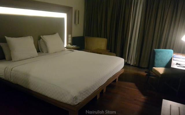 Salah satu kamar di Hotel Novotel Semarang