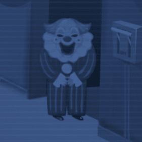 Fã game de Five Nights at Freddy's de palhaços onde você é um segurança noturno em um circo.
