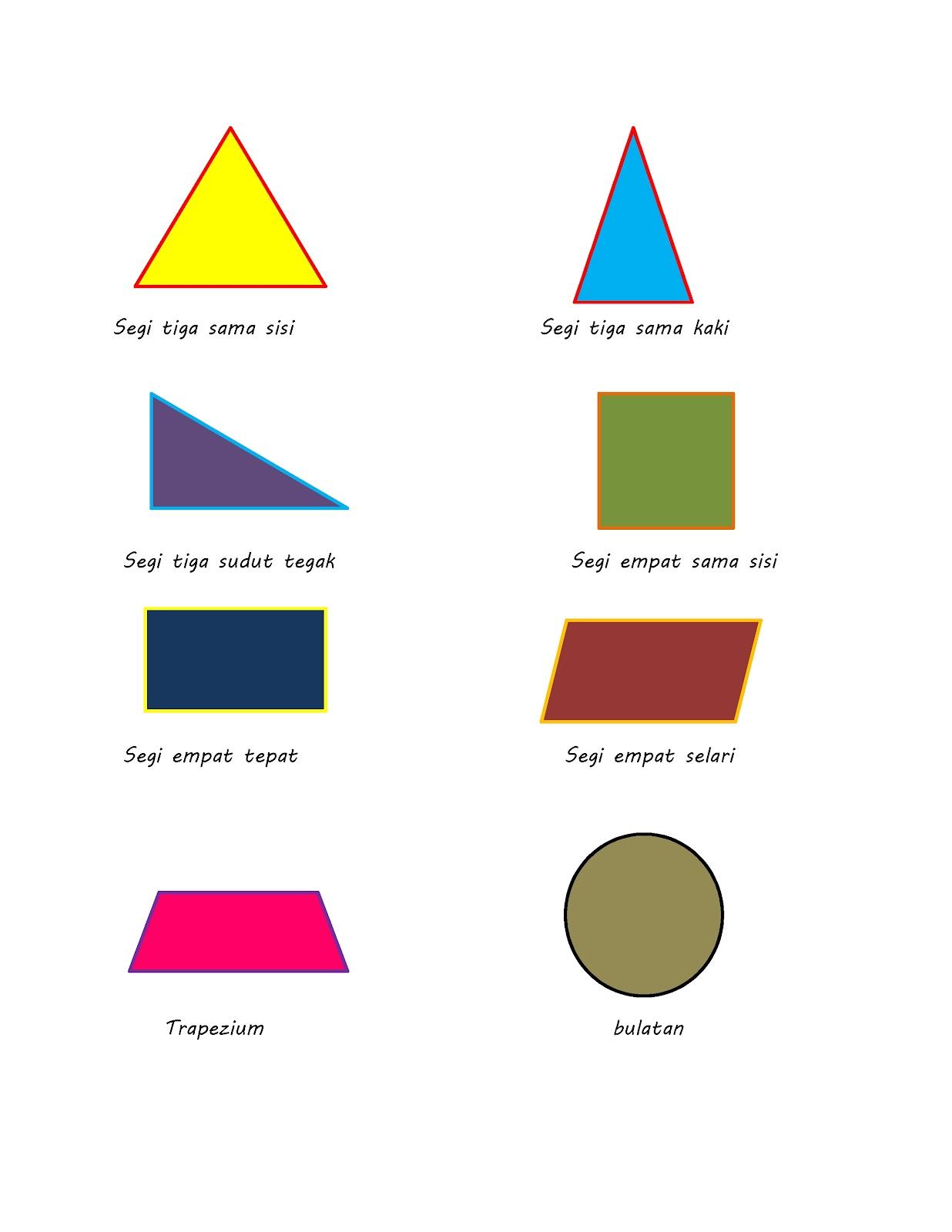 Bentuk 2 Dimensi Dan 3 Dimensi