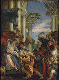 Adoration of the Magi by Paolo Veronese - Christianity, Religious Paintings from Hermitage Museum