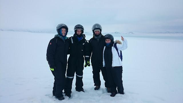 Langjokull snowmobiling, Iceland