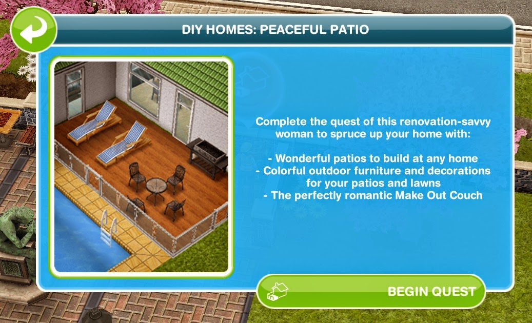 Sims Freeplay Quests And Tips: Discovery Quest: DIY Homes
