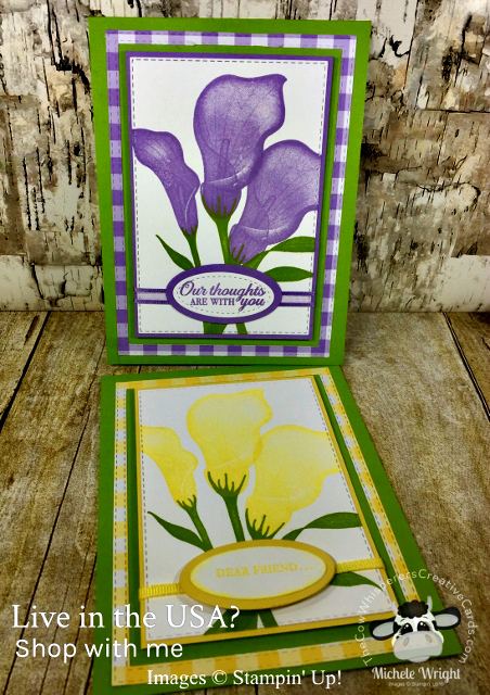 Card, Lasting Lily, Sympathy, Rectangle Stitched Framelits