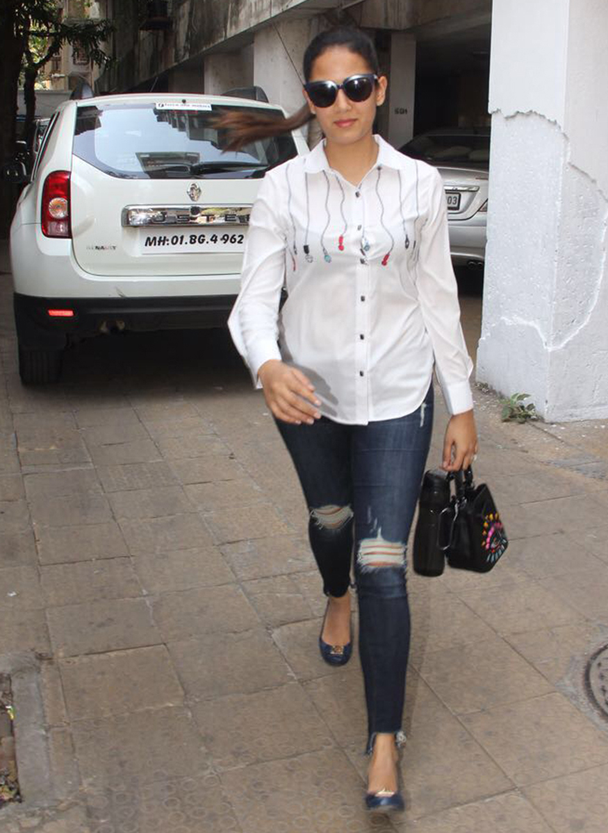 Mira Rajput was spotted at skin clinic