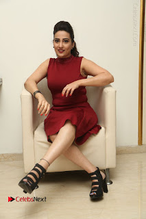 Telugu Tollywood Anchor Manjusha Pos in Red Short Dress  0106.JPG