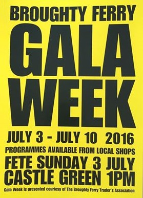 Broughty Ferry Gala Week Poster 3-10 July 2016