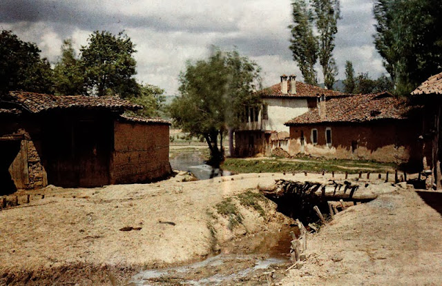 Turkish neighborhood in Resen, Macedonia in 1913