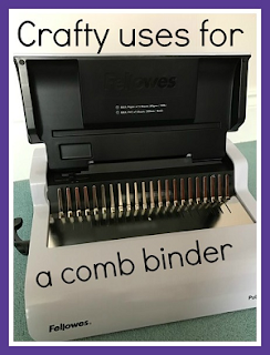 Crafty uses for a comb binder around the home
