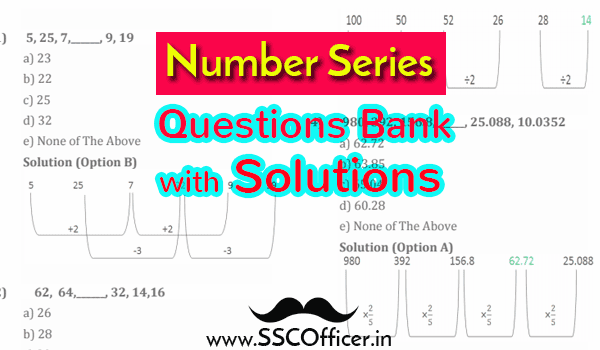 Number Series Question Bank with Solutions [PDF] • SSC OFFICER