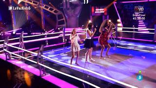 Sara, Paula, Julia batallas la voz kids