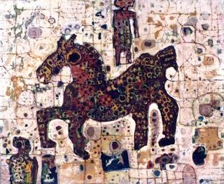 Lukisan Karya Widayat dengan Judul Kuda