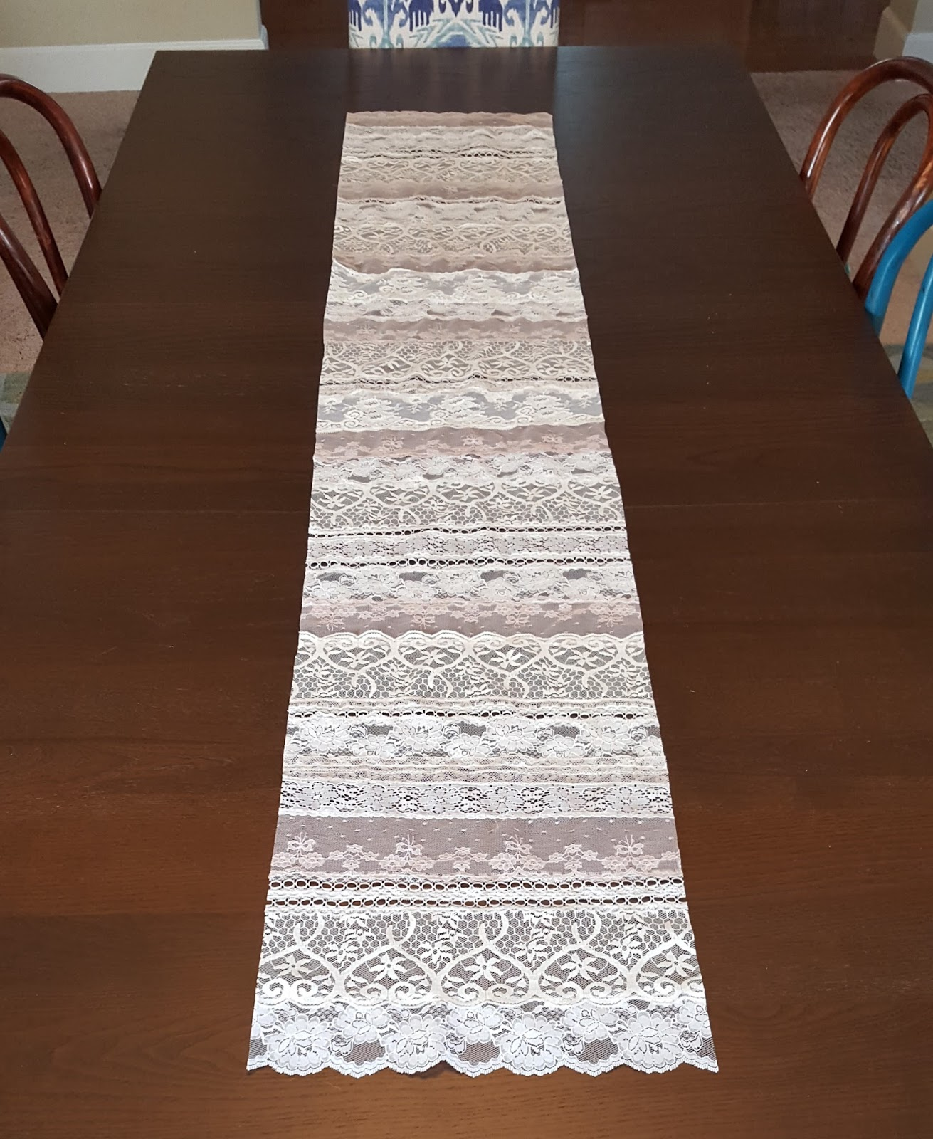 Vintage lace table runner so much to make for 12 foot table runner