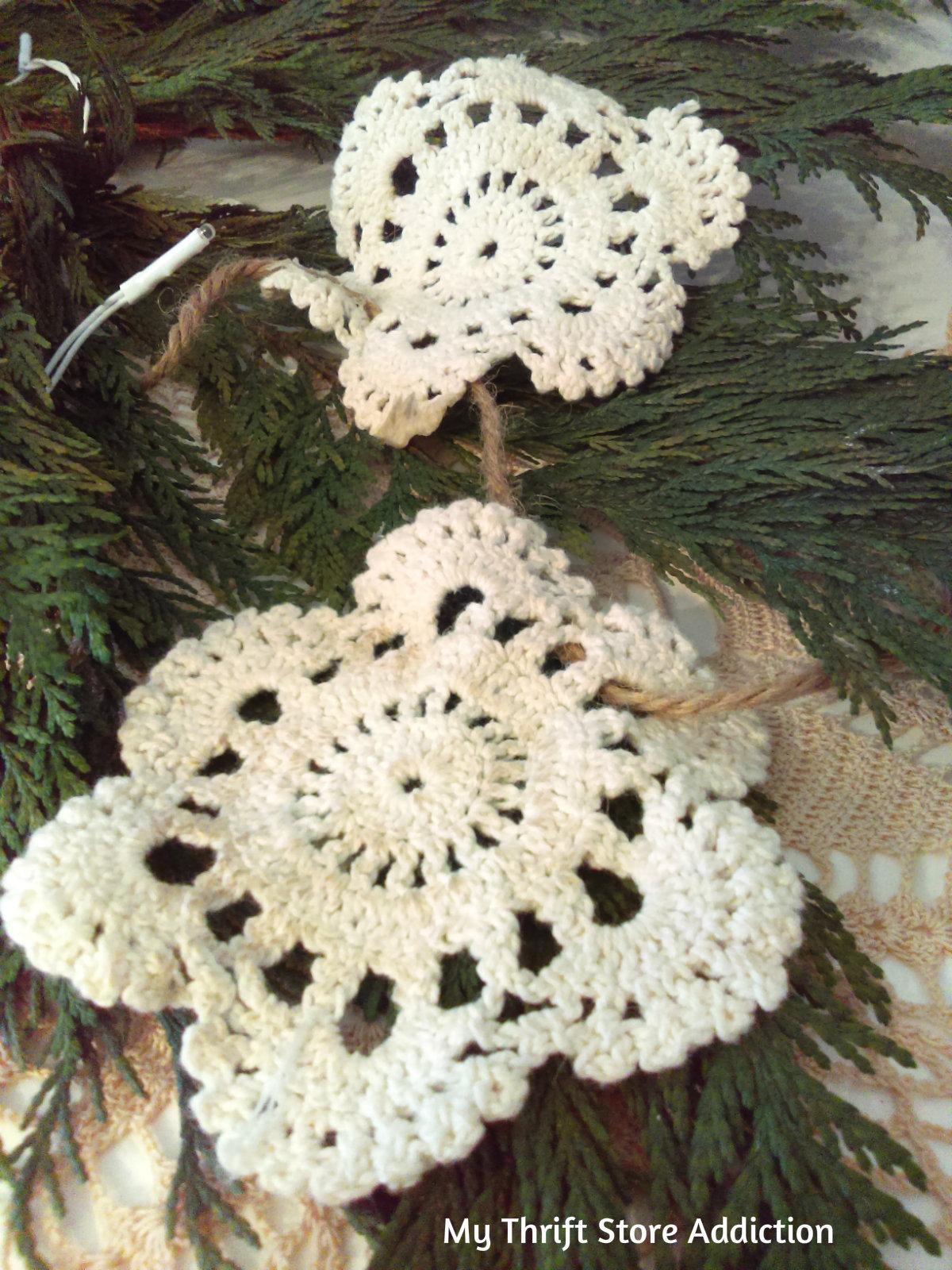 handmade garland doily
