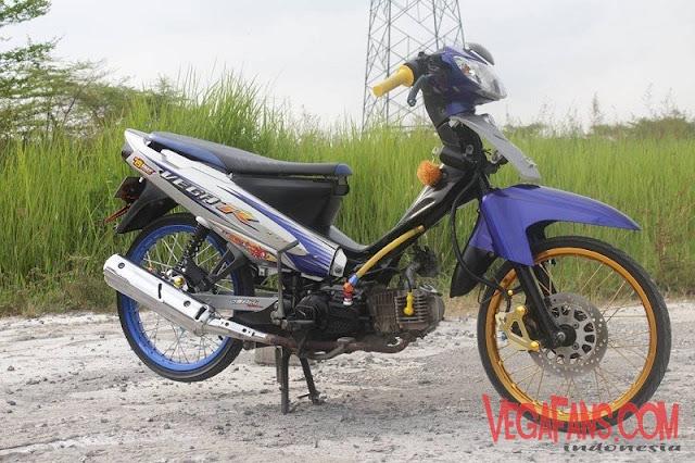 Modifikasi Vega R New Biru Abu Abu Standar