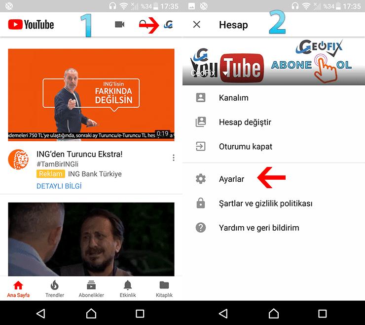 Çocuklar için youtube'da Filtre nasıl uygulanır?www.ceofix.com