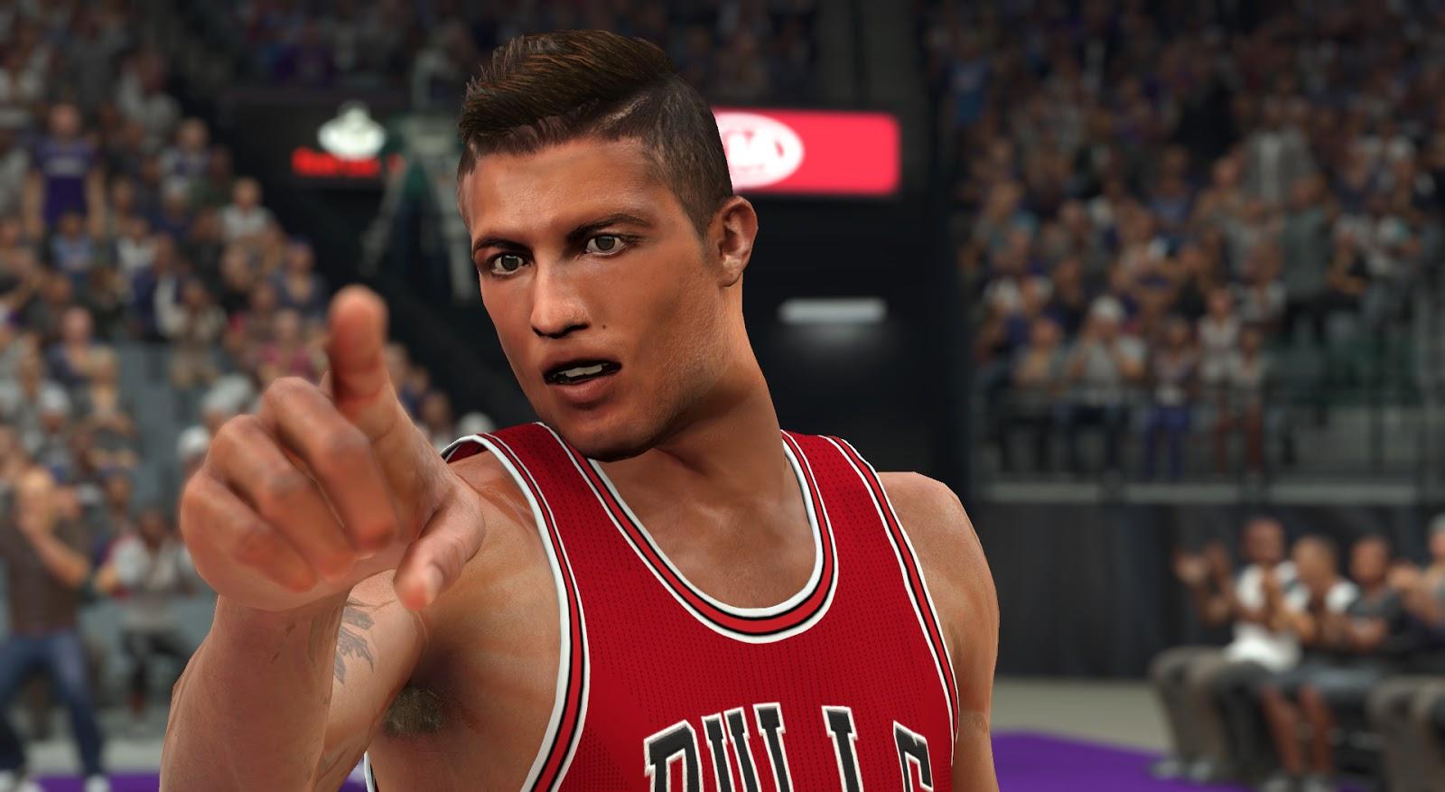 DNA Of Basketball   DNAOBB: NBA 2K17 Cristiano Ronaldo Cyberface by Stonecoldvs