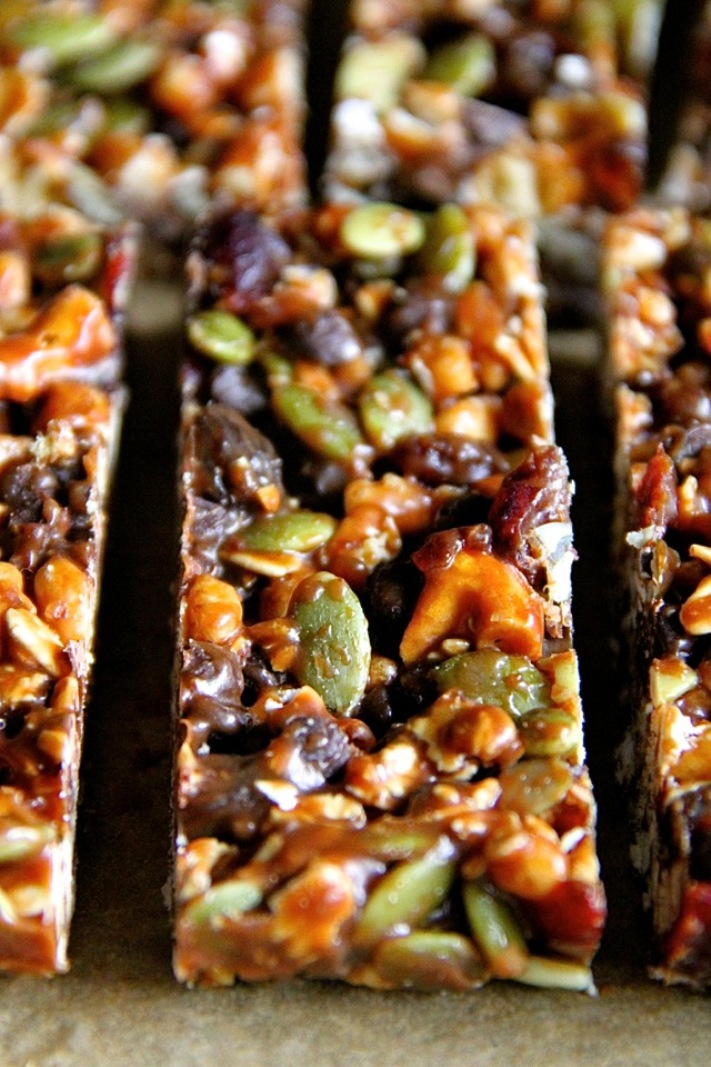 Homemade trail mix Bars plus 30 Real Food Gluten Free Recipes to Fuel Your Next Run or Workout! Natural energy to fuel you for a run or even sustain you after!