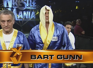 WWE / WWF Wrestlemania 15: Bart Gunn faced Butterbean in a shoot fight