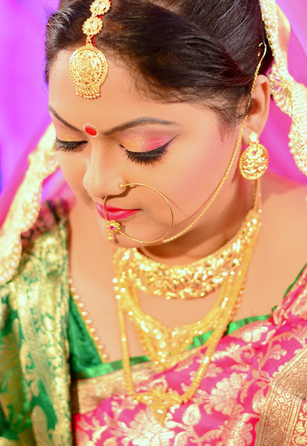 bengali wedding bridal look