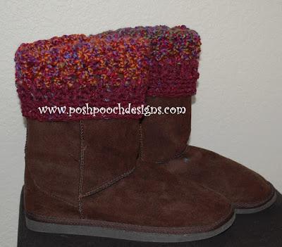 Free Crochet Patterns Dog Boots : Posh Pooch Designs Dog Clothes: Free Boot Cuff Crochet pattern