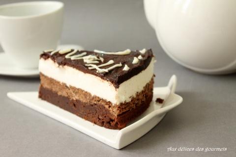 aux délices des gourmets: entremet brownie / speculoos / mousse