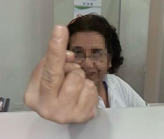 Auxiliar de enfermagem que mostrou 'dedo do meio' para paciente é afastada de hospital em SP