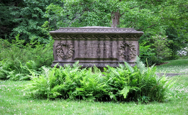 Old grave at Mount Auburn Cemetery Outside of Boston